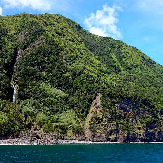 Fajã do Salto Verde na Ilha de São Jorge nos Açores
